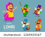 popular winter punjabi folk... | Shutterstock .eps vector #1265423167