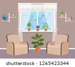 living room interior design... | Shutterstock . vector #1265423344