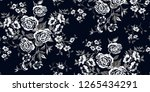 seamless floral pattern in... | Shutterstock .eps vector #1265434291