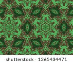 a hand drawing pattern made of... | Shutterstock . vector #1265434471