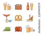 set of oktoberfest beer... | Shutterstock .eps vector #1265445574