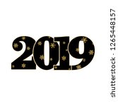 happy new year card. black... | Shutterstock . vector #1265448157