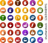 color back flat icon set  ... | Shutterstock .eps vector #1265448991