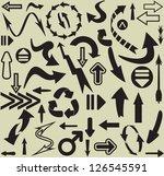arrows seamless pattern | Shutterstock .eps vector #126545591