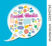 social media icon. social media ... | Shutterstock .eps vector #126545765