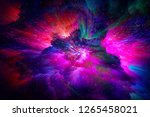 space bright fantasy abstract... | Shutterstock . vector #1265458021