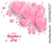 valentines day banner with... | Shutterstock .eps vector #1265462317