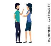business couple avatars... | Shutterstock .eps vector #1265463154