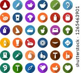 color back flat icon set  ... | Shutterstock .eps vector #1265463901