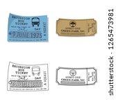 bitmap design of ticket and... | Shutterstock . vector #1265473981