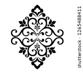 damask graphic ornament. floral ...   Shutterstock . vector #1265488411