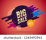 big sale abstract banner...   Shutterstock .eps vector #1265492941