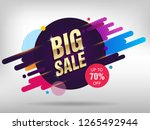 big sale abstract banner...   Shutterstock .eps vector #1265492944