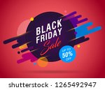 black friday sale abstract...   Shutterstock .eps vector #1265492947