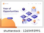 landing page with man standing... | Shutterstock .eps vector #1265493991