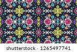 seamless floral pattern folk...   Shutterstock .eps vector #1265497741