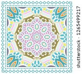 decorative colorful ornament on ... | Shutterstock .eps vector #1265499217