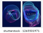 big data background. technology ... | Shutterstock .eps vector #1265501971