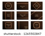 a collection of bright covers...   Shutterstock .eps vector #1265502847
