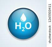 water h2o drop button... | Shutterstock .eps vector #1265503411