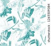 summer exotic seamless pattern. ... | Shutterstock . vector #1265509384