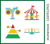 attraction icon. carousel and... | Shutterstock .eps vector #1265512921