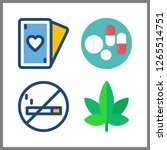 4 addiction icon. vector... | Shutterstock .eps vector #1265514751