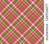 pink color check plaid seamless ... | Shutterstock .eps vector #1265516077