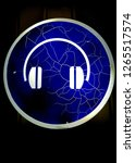 neon headphones. safety warning ... | Shutterstock . vector #1265517574