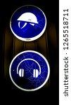 neon headphones and helmet.... | Shutterstock . vector #1265518711
