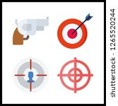 aiming icon. targeting and... | Shutterstock .eps vector #1265520244