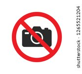no photography sign vector | Shutterstock .eps vector #1265521204