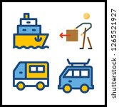 shipment icon. ship and... | Shutterstock .eps vector #1265521927