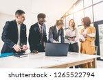 business people meeting... | Shutterstock . vector #1265522794