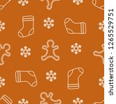 seamless pattern with... | Shutterstock .eps vector #1265529751