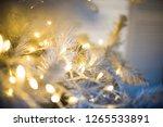 christmas tree closeup  light... | Shutterstock . vector #1265533891