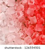 fresh cool ice cube background | Shutterstock . vector #126554501