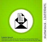 vector email icon  | Shutterstock .eps vector #1265550691