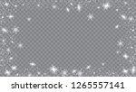 glitter snowflakes background.... | Shutterstock .eps vector #1265557141