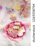 birthday cookies   detail of a... | Shutterstock . vector #1265558704