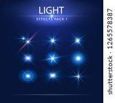 light effects pack 1  lens... | Shutterstock .eps vector #1265578387