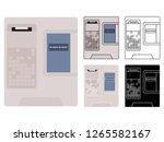 electronics ballot box mexico... | Shutterstock .eps vector #1265582167