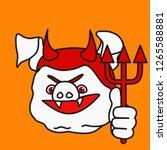 emoticon or emoji of evil devil ... | Shutterstock .eps vector #1265588881
