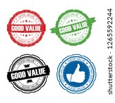stamp good value set. | Shutterstock . vector #1265592244
