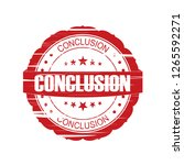red conclusion grunge stamp on... | Shutterstock . vector #1265592271