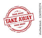 take away grunge stamp on white ... | Shutterstock . vector #1265592274