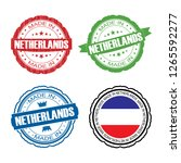 stamp made in netherlands label ... | Shutterstock . vector #1265592277