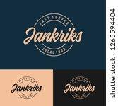 classic food logo design vector | Shutterstock .eps vector #1265594404