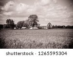 Black And White Beautiful Farm...