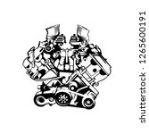 automotive engine vector | Shutterstock .eps vector #1265600191
